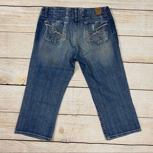 👖BKE Distressed Crop Jeans
